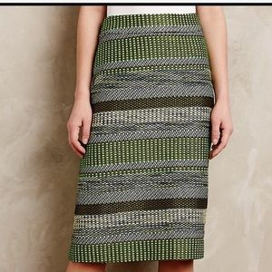 Leifsdottir Women's 0 Greenmulti stripe jade skirt
